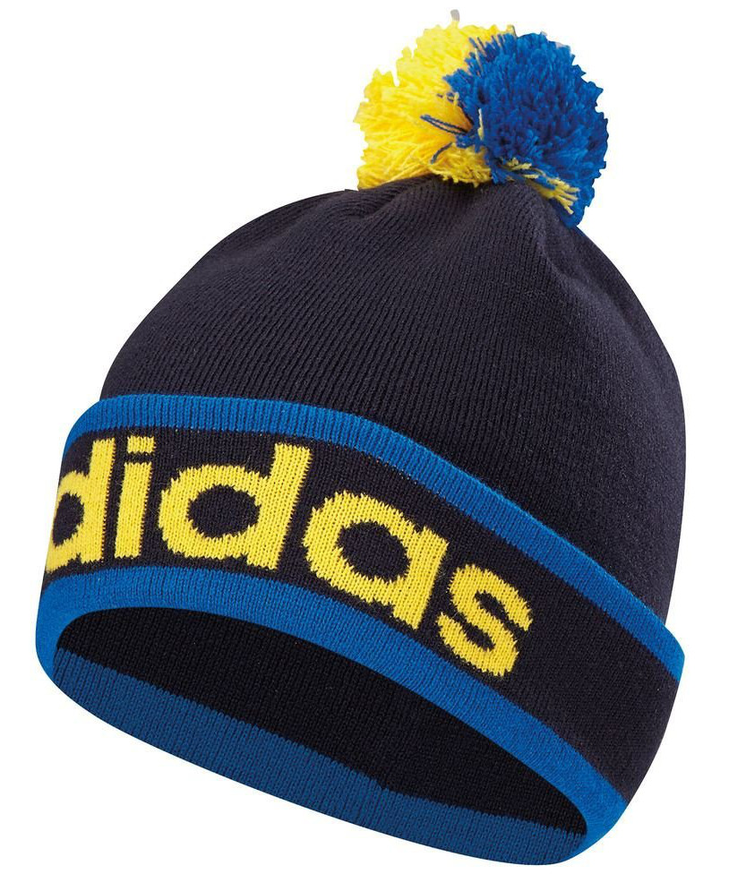 4d190770c7e3e Adidas Mens ClimaHeat Pom Pom Beanie Golf Winter Bobble Hats