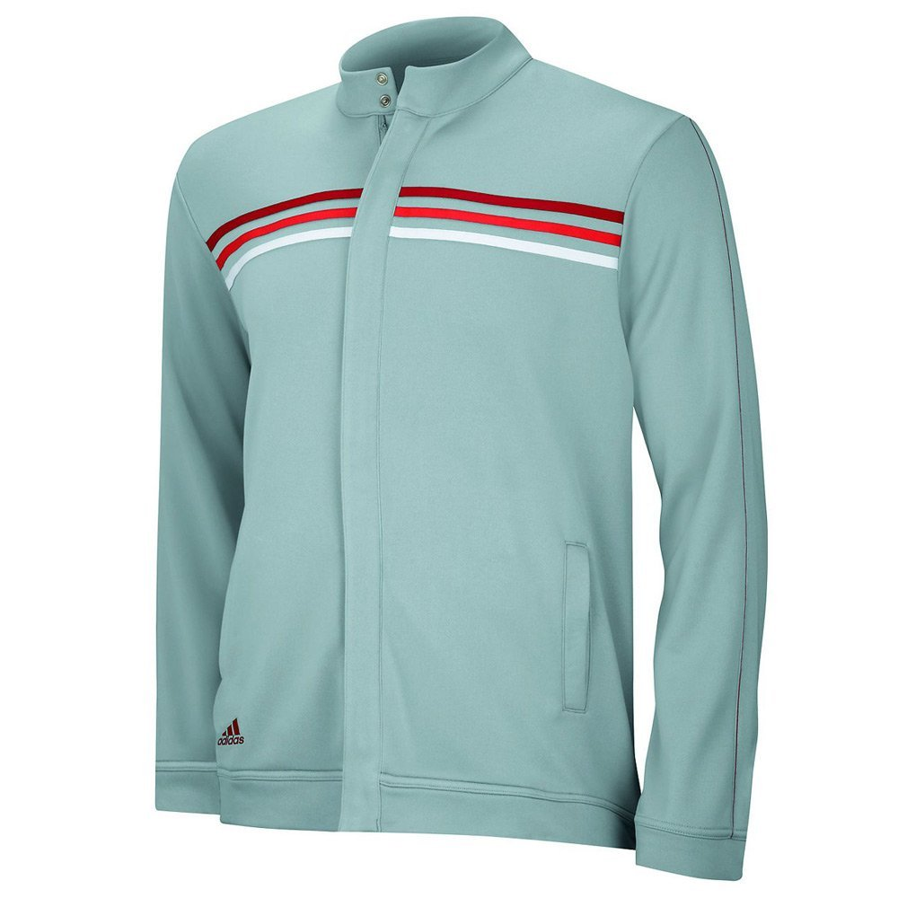 Adidas Mens ClimaLite Long Sleeve/Layering 3 Stripe Jackets