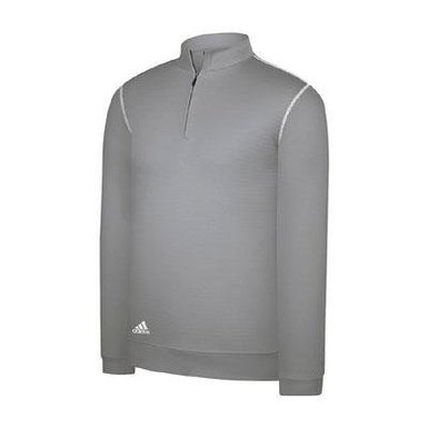 Mens Adidas Contrast Textured Half Zip Golf Pullovers