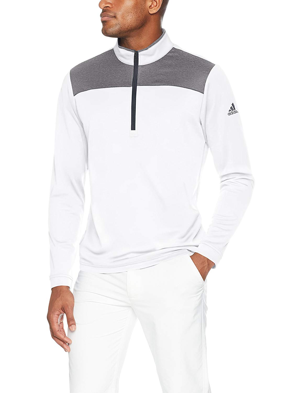 7249c8ca0e8adc Adidas Mens Lightweight UPF Quarter Zip Golf Pullovers