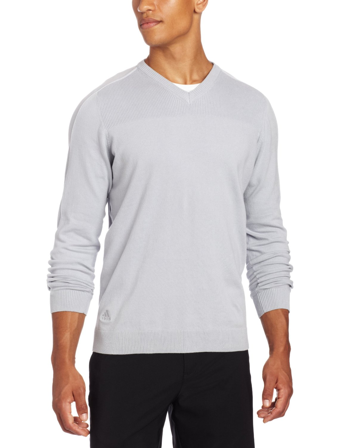 Mens Adidas Textured V-Neck Golf Pullovers