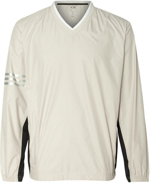 adidas Mens ClimaProof Colorblock V-Neck Windshirt-A147