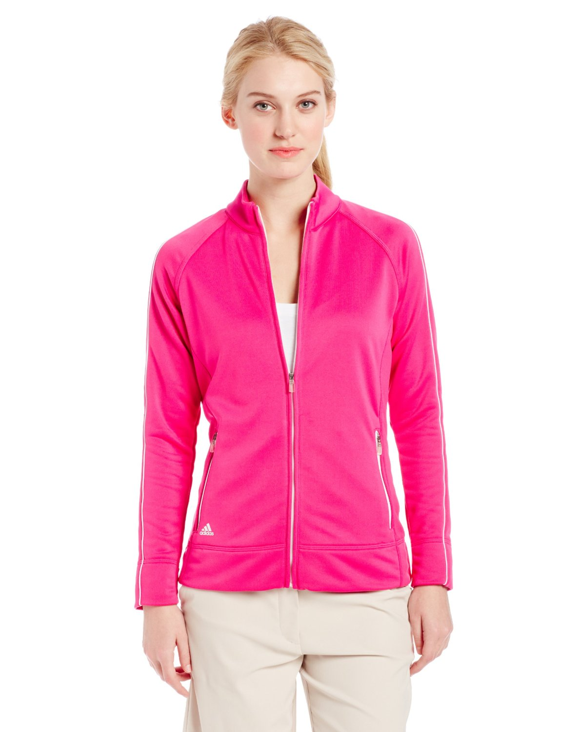 Womens Adidas 3-Stripe Piped Golf Jackets