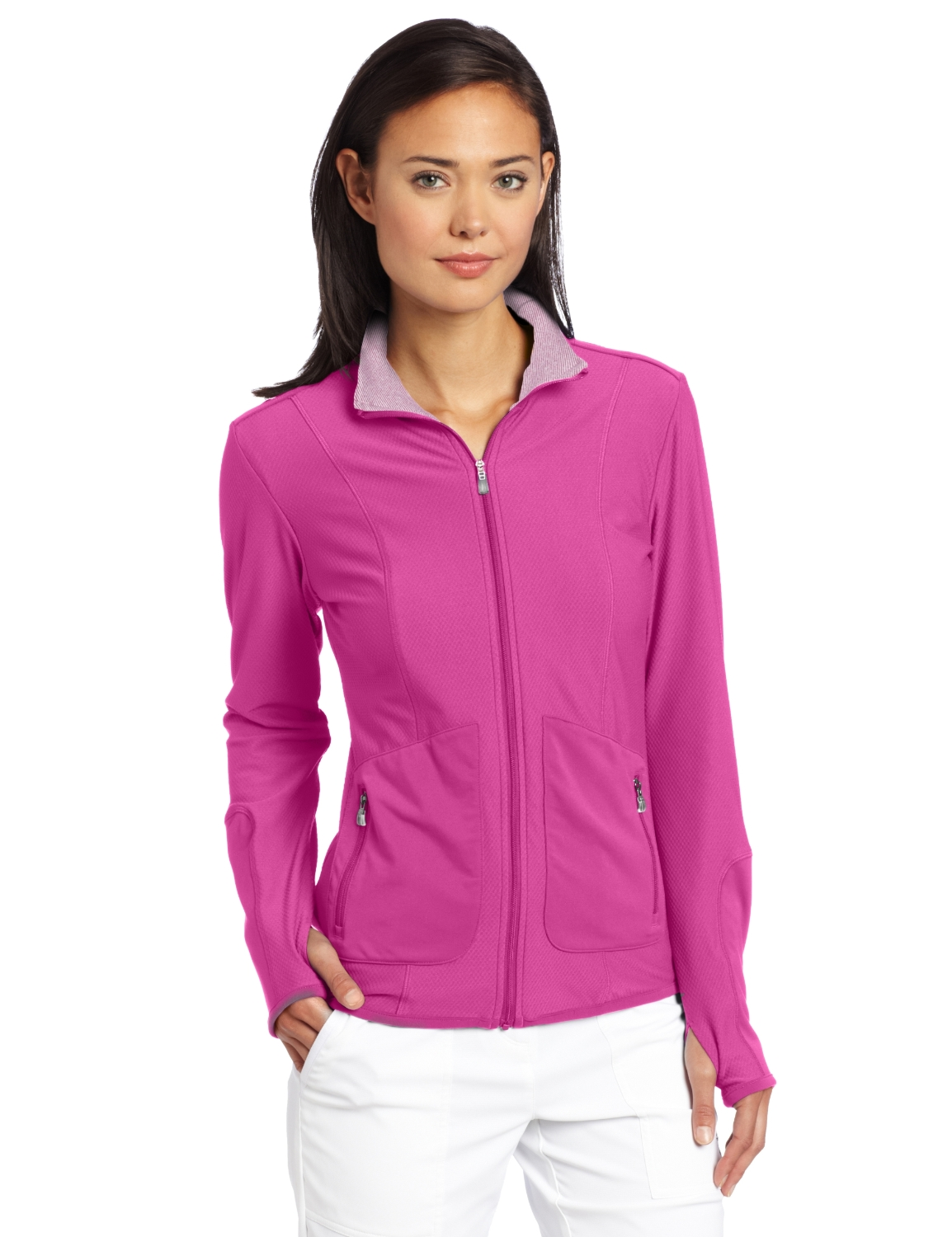 Adidas Womens Climalite Textured Knit Golf Jackets
