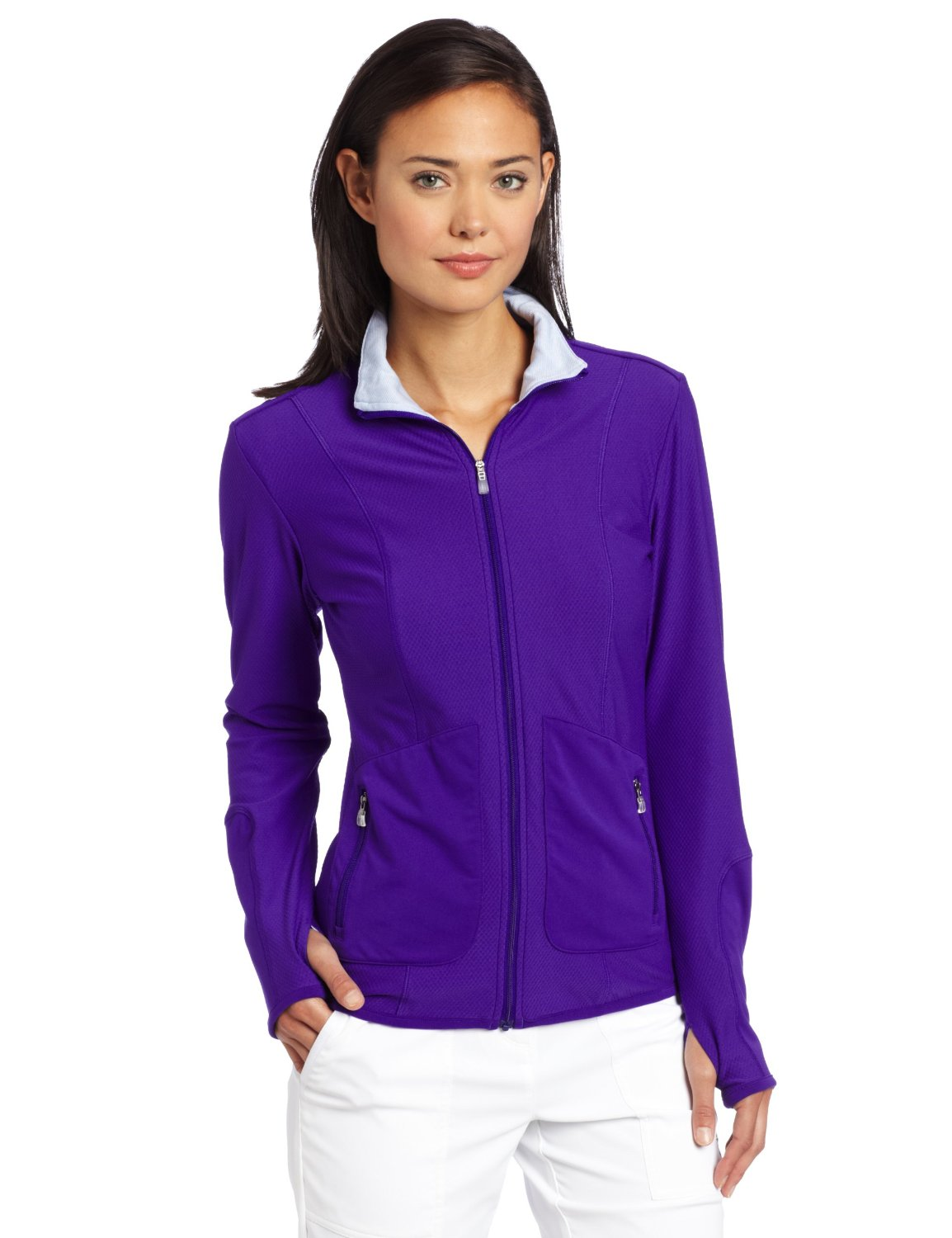 Womens Adidas Climalite Textured Knit Golf Jackets