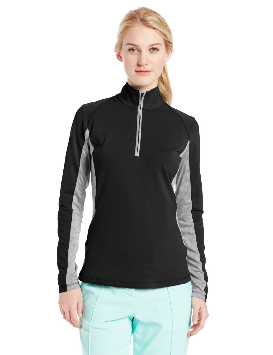 Adidas Womens Microstripe Block Golf Jackets