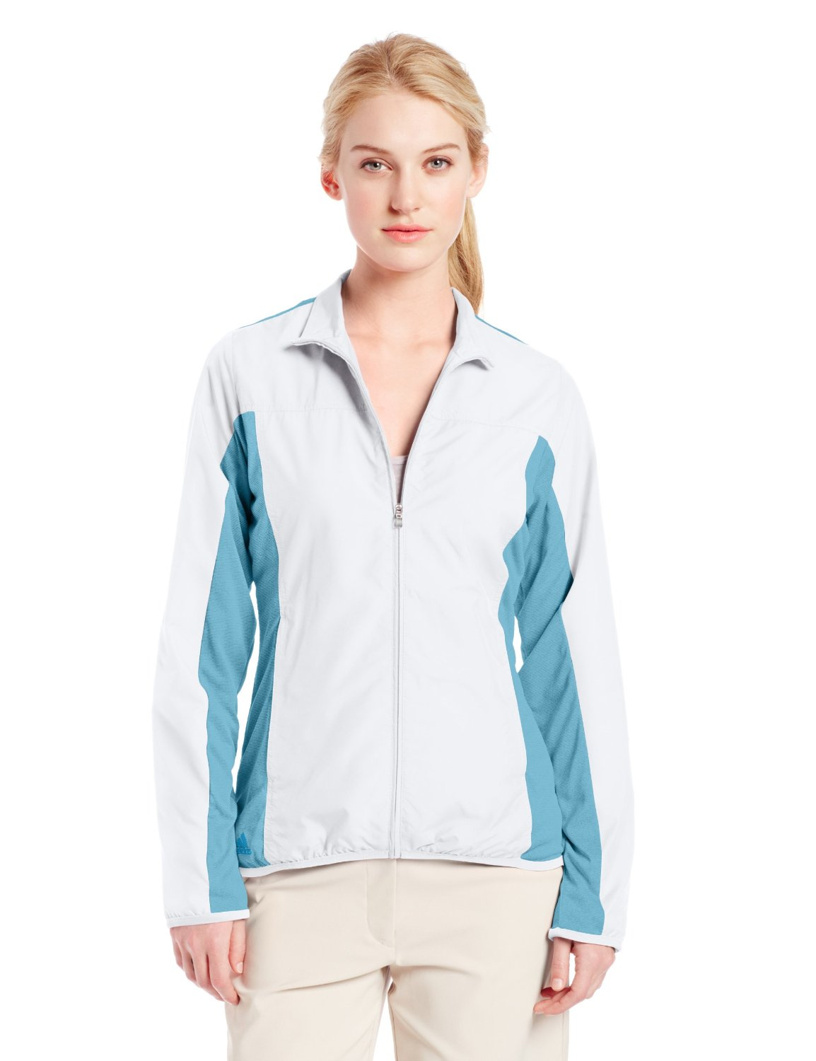 Adidas Womens 3-Stripe Piped Golf Jackets