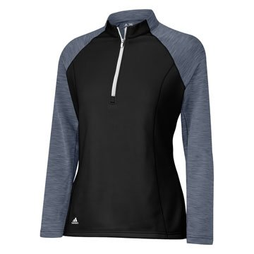 Womens Adidas Climawarm Half Zip Blocked Golf Pullovers