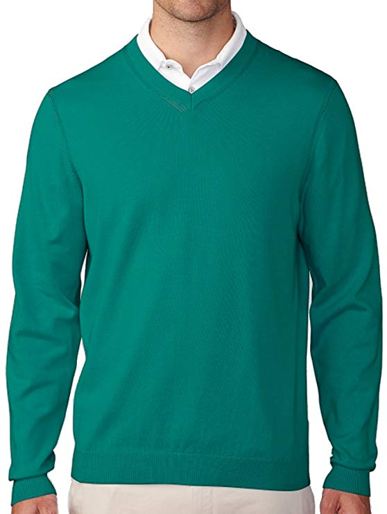 Ashworth Mens Cotton Plaited Jersey V Neck Golf Sweaters