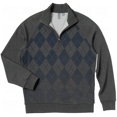 Mens Ashworth French Terry Argyle Golf Pullovers