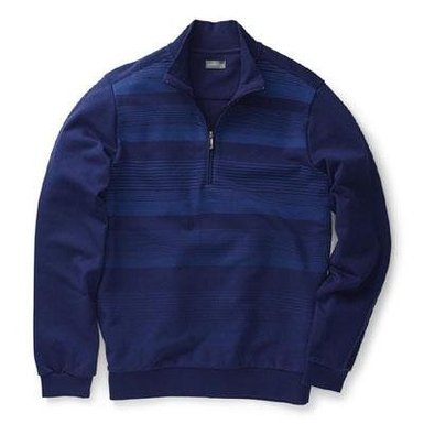 Mens Ashworth French Terry Gradient Stripe Print Golf Pullovers