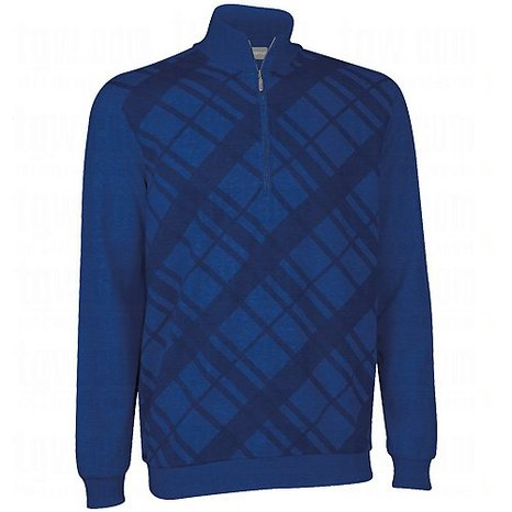 Mens Ashworth French Terry Print Golf Pullovers