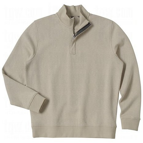 Mens Slub Half Zip Fleece Golf Pullovers
