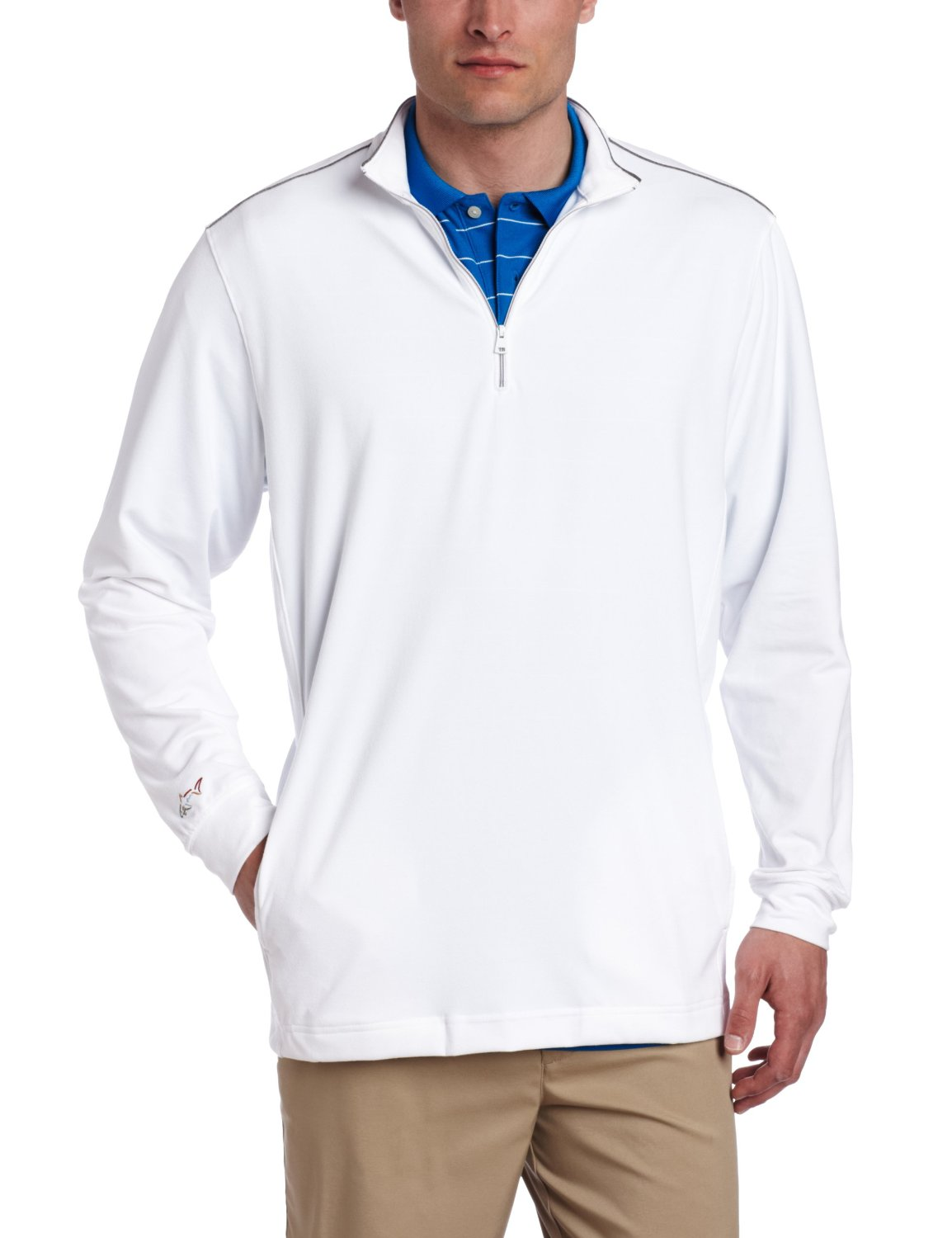 Mens Greg Norman Collection Performance Golf Pullovers