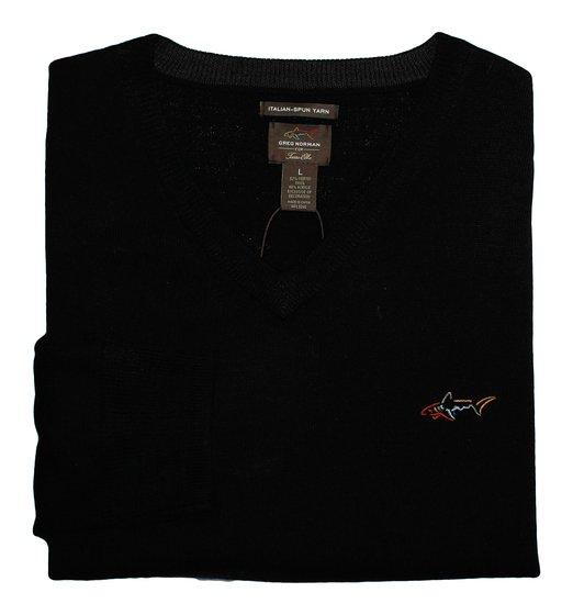 Mens Greg Norman Lightweight Merino-Wool Blend Golf Pullovers