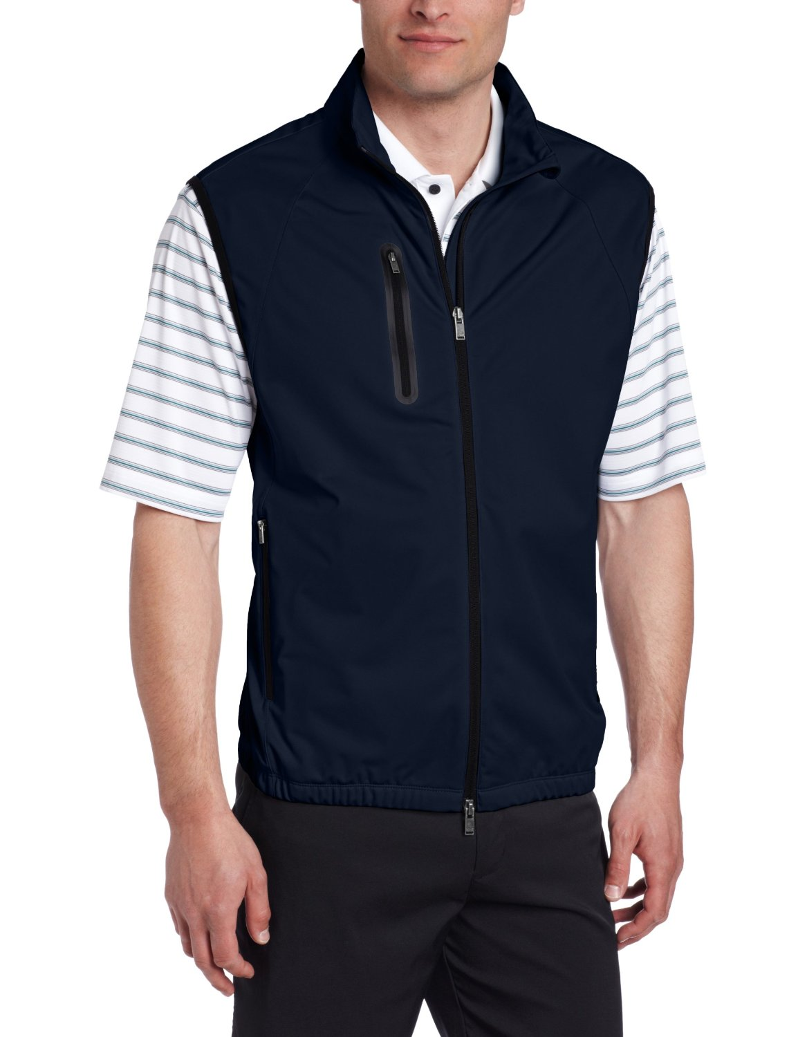 Greg Norman Mens Collection Full Zip Tech Golf Vests