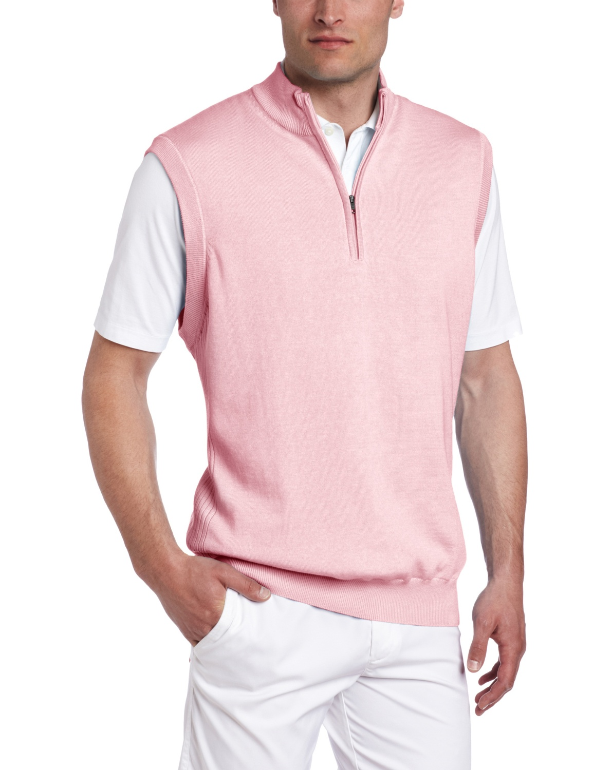 Greg Norman Mens Full Zip Golf Sweater Vests