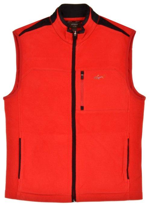 Mens Greg Norman Full Zip Golf Sweater Vests