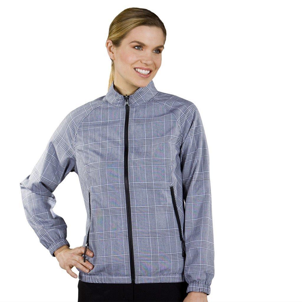 Womens Monterey Club Checker Plaid Reversible Golf Jackets