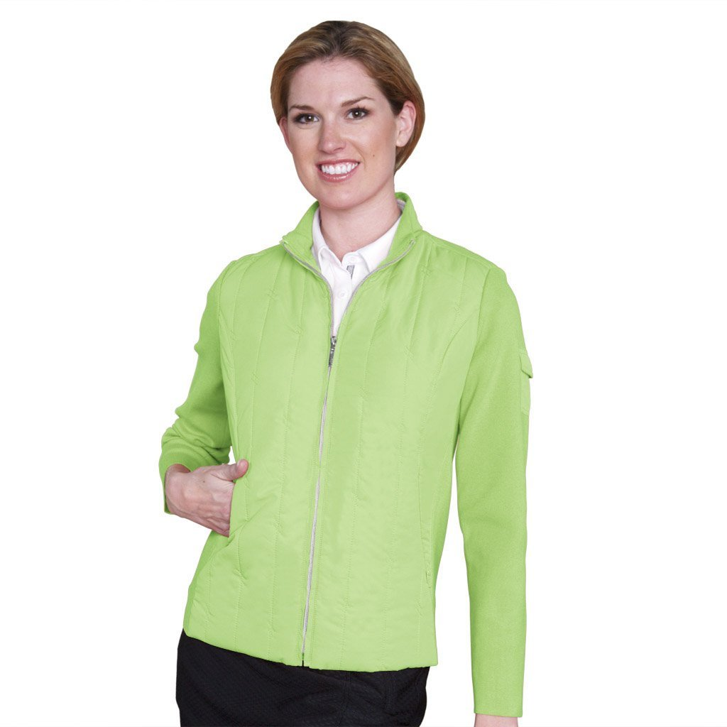 Womens Monterey Club Contrast Quilt Golf Jackets