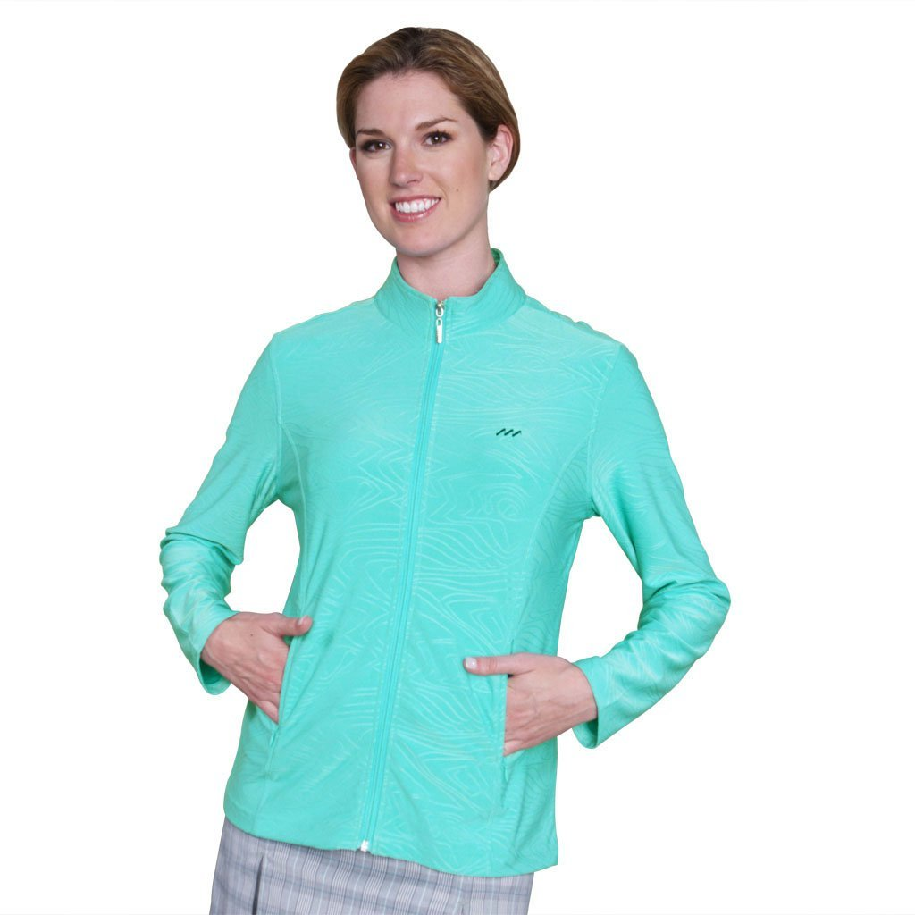 Womens Monterey Club Embossed Tonal Print Texture Golf Jackets