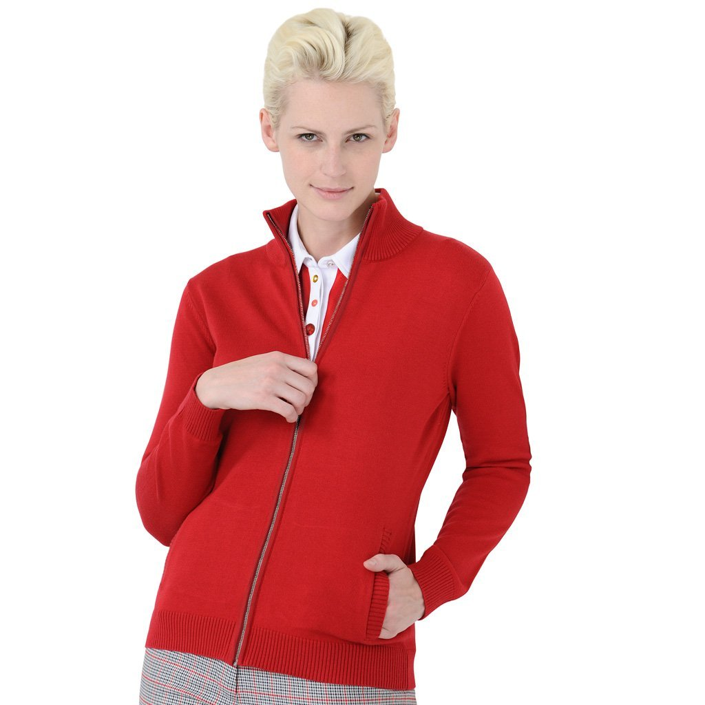 Womens Monterey Club Front Zipped Golf Sweater Jackets