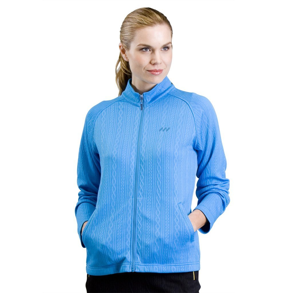 Womens Monterey Club Long Sleeve Solid Texture Moisture Wicking Golf Jackets