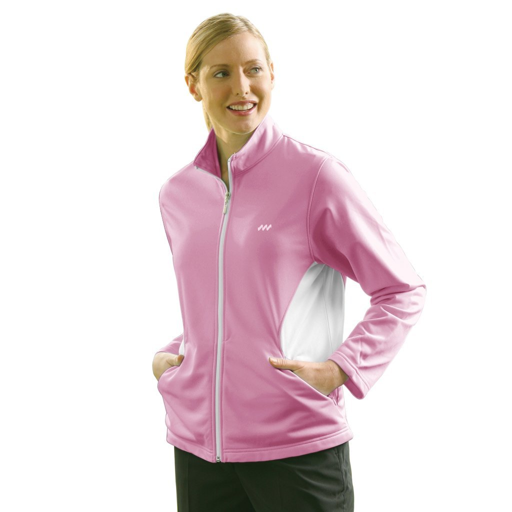 Womens Monterey Club Zip Front Soft Knit Golf Jackets