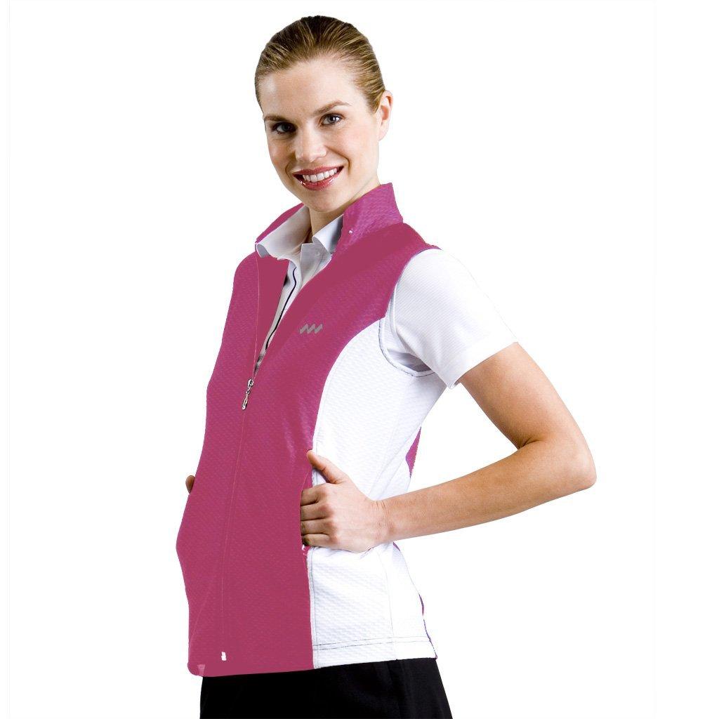 Womens Monterey Club Dry Swing Honeycomb Colorblock Texture Golf Vests