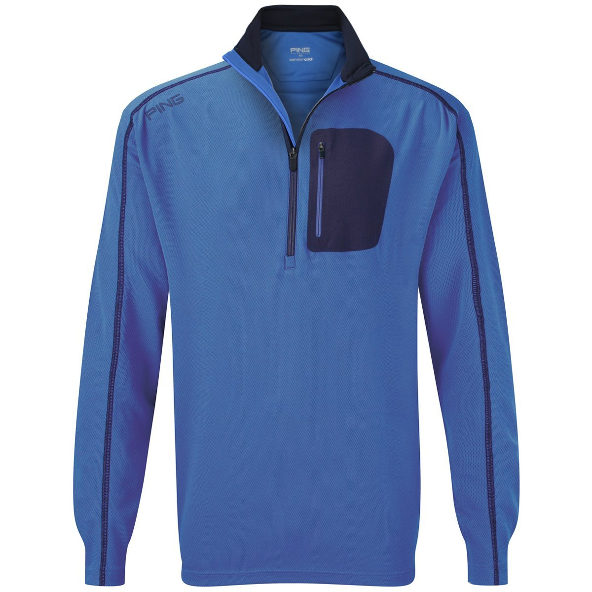 Mens Ping Collection Reagan Zip Neck Golf Pullovers