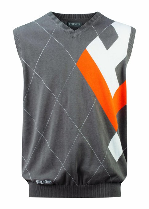 Mens Ping Collection Benito Argyle Tank Top Golf Vests