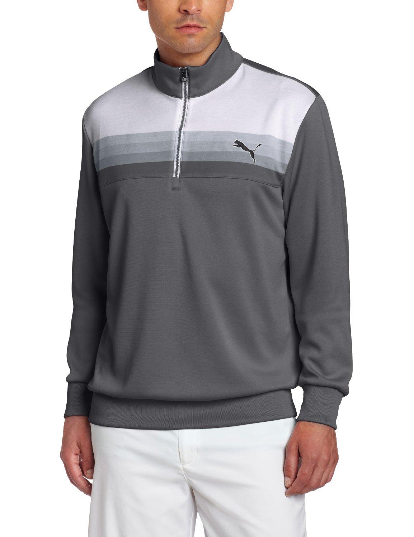 Mens Puma Graphic Quarter Zip Golf Popovers