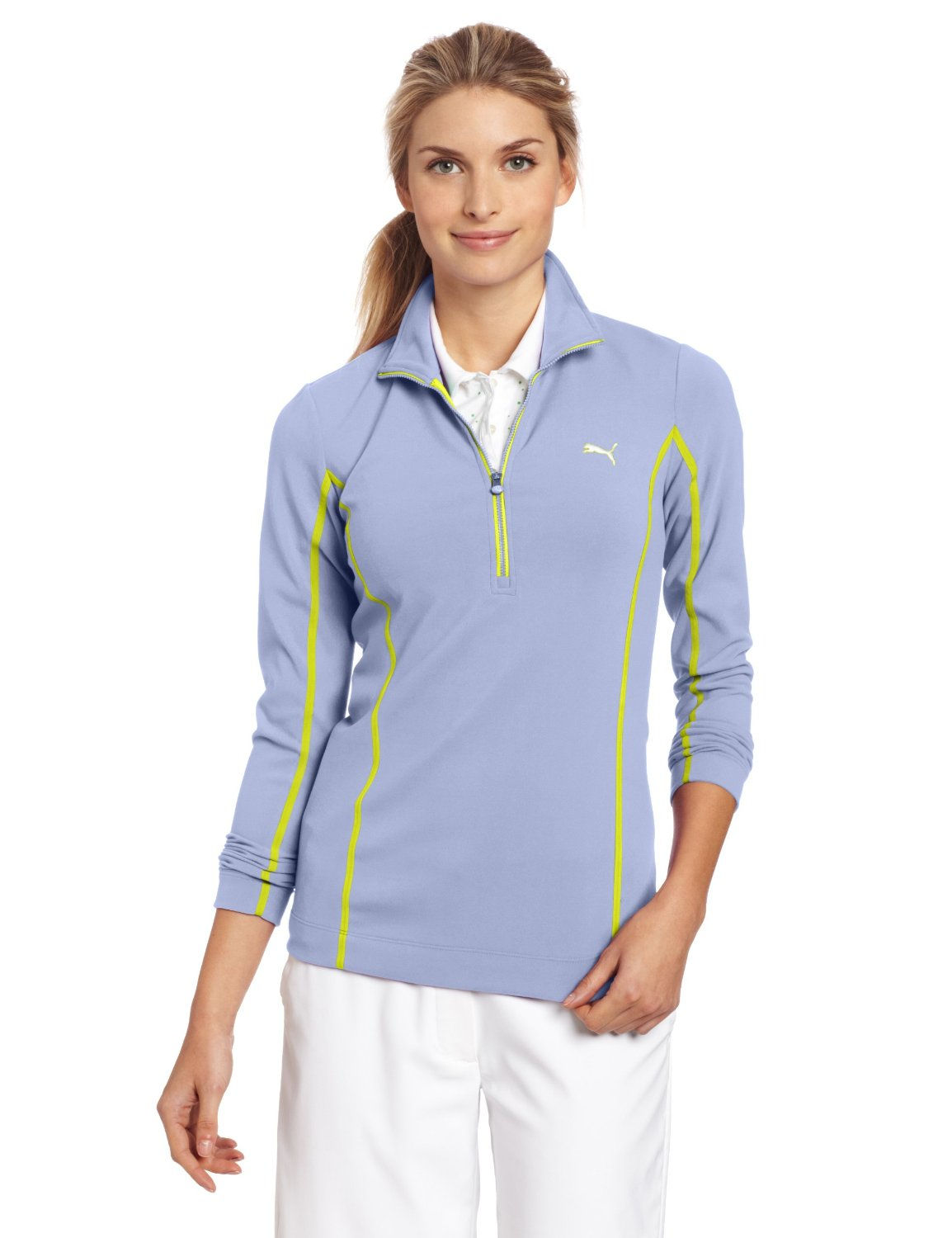 Womens Puma NA Monoline Golf Pullovers