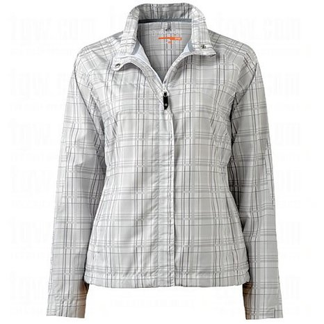 Womens Sunice Maeva Full Zip Plaid Golf Wind Jackets