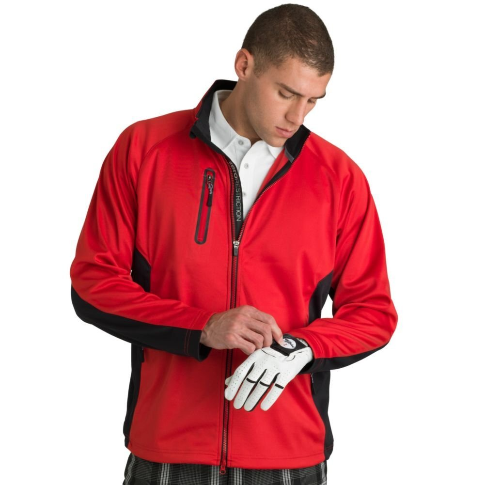 Mens Zero Restriction Airflow Colorblock Golf Jackets