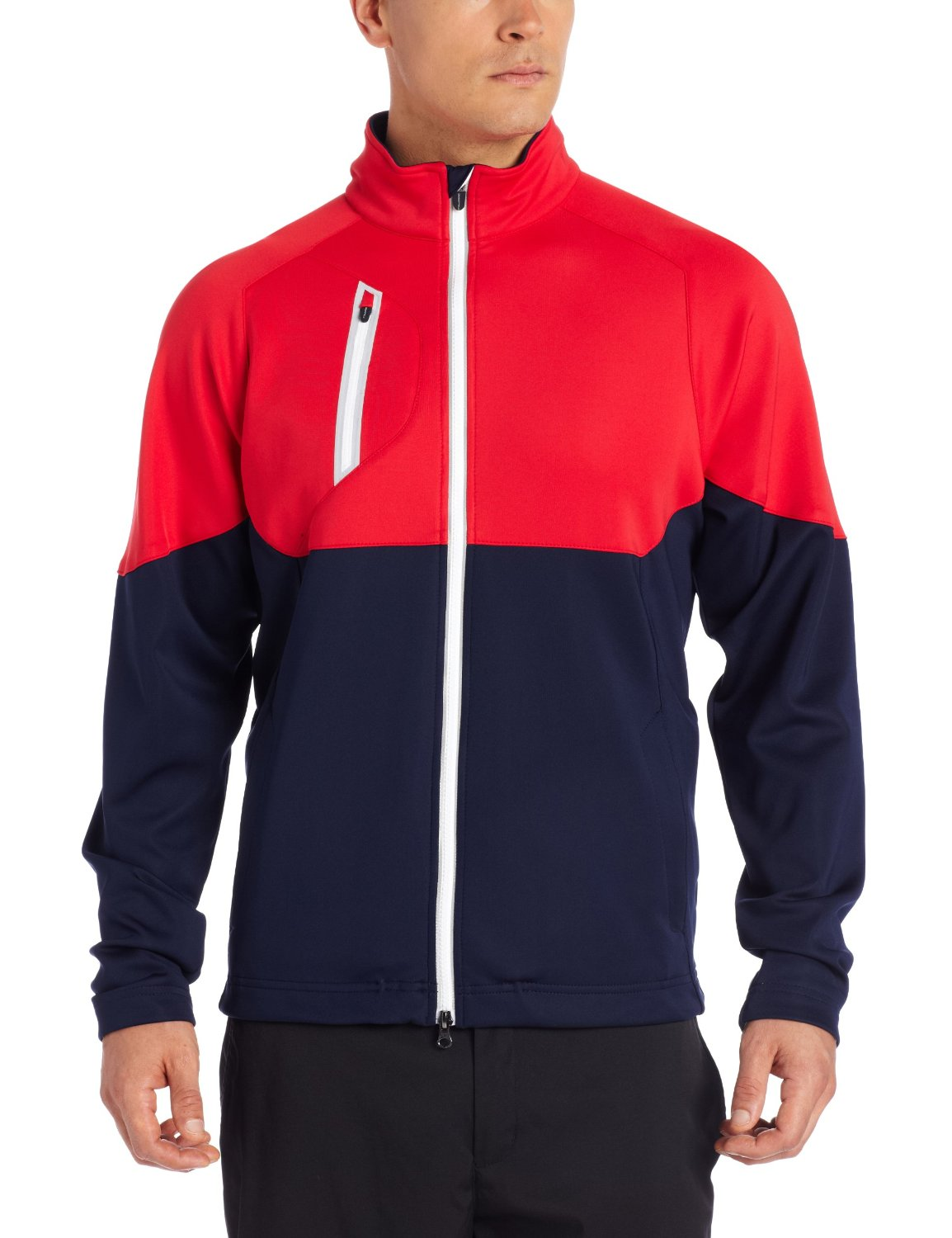 Mens Zero Restriction Full Zip Golf Jackets