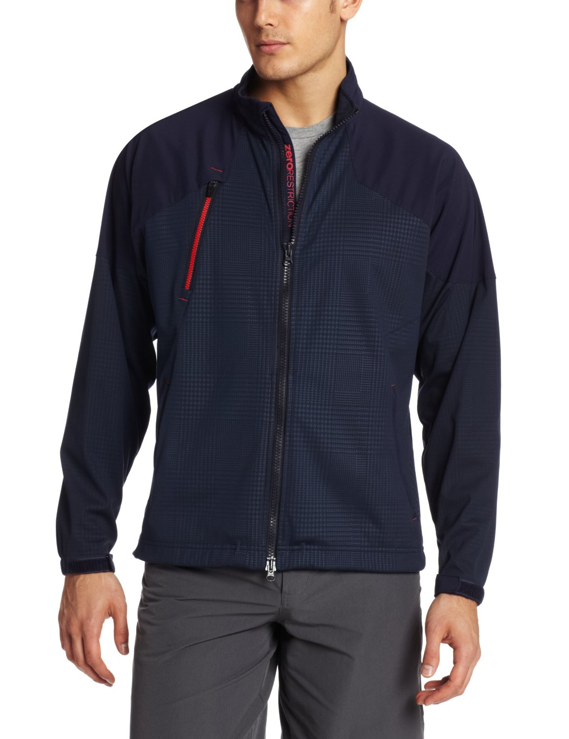 Mens Zero Restriction Glen Covert Golf Jackets