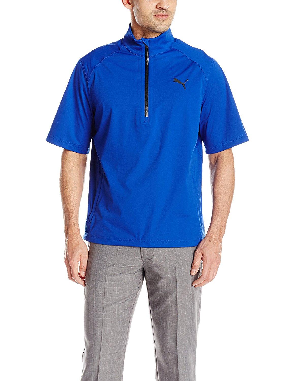 Puma Mens Short Sleeve Golf Rain Popover Jackets