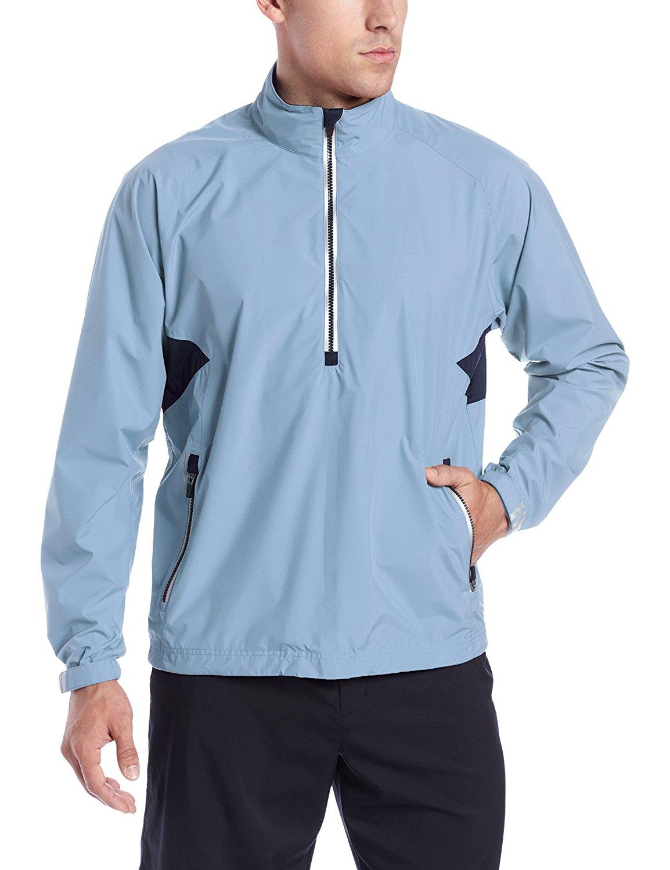 Zero Restriction Mens Power Torque 1//4 Zip Rain Jacket