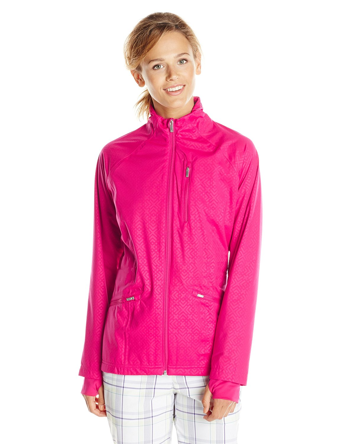 Adidas womens climaproof fashion golf rain jackets for Adidas golf rain shirt