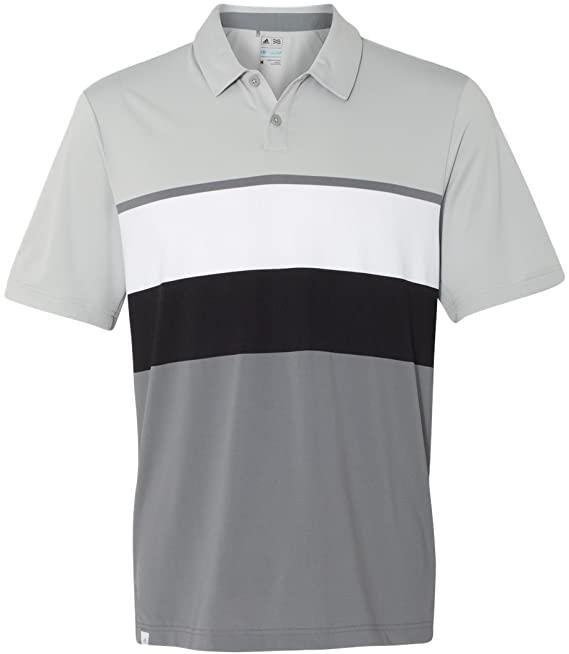 Adidas Mens Climacool Engineered Stripe Sport Golf Shirts
