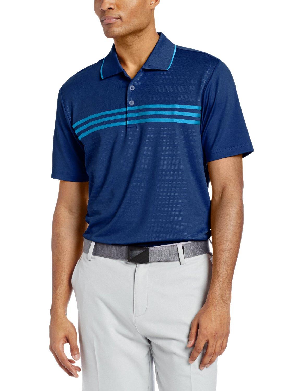 Especialmente Cordero sombrero  Adidas Mens Puremotion Climacool 3 Stripes Chest Golf Polo Shirts