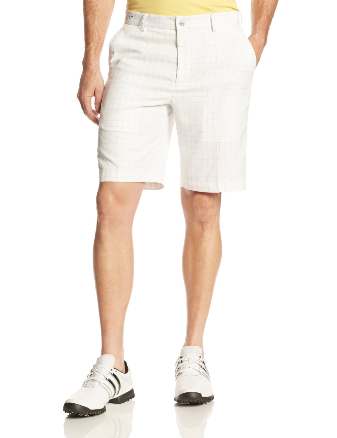 Mens Greg Norman Collection Windowpane Golf Shorts
