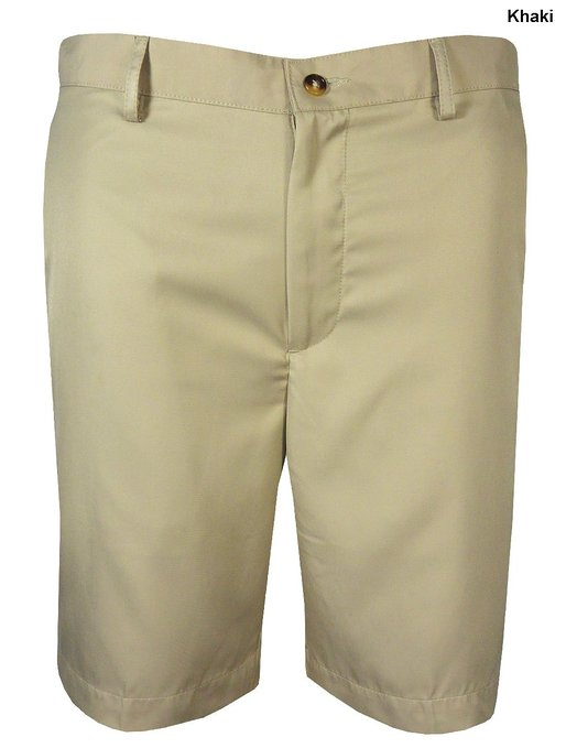 Mens Greg Norman Flat Front Golf Shorts