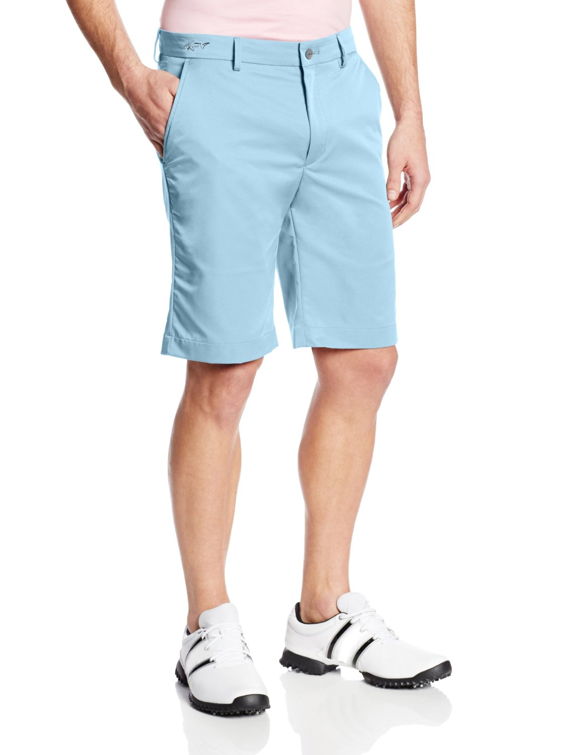 Mens Greg Norman ML75 Hybrid Flat Front Golf Shorts
