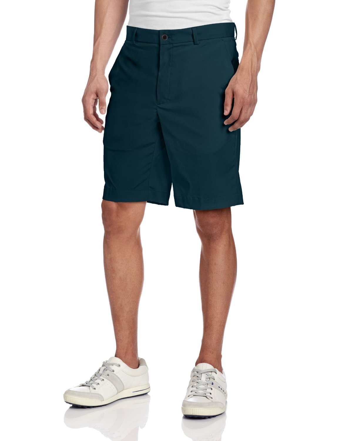 Mens Greg Norman Tech Flat Front Golf Shorts
