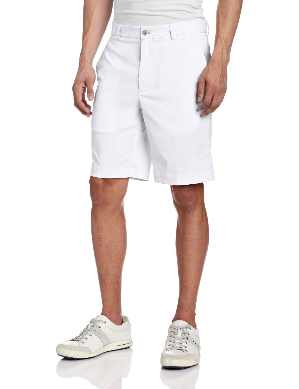 Greg Norman Mens Tech Flat Front Shorts
