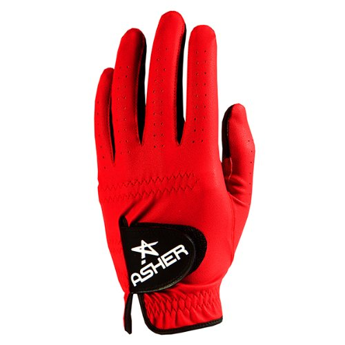 Mens Asher Chuck Hero Red Golf Gloves