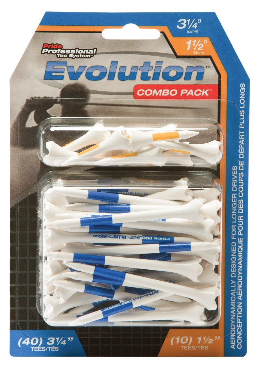 Pride Professional Tee System Evolution Plastic Golf Tees
