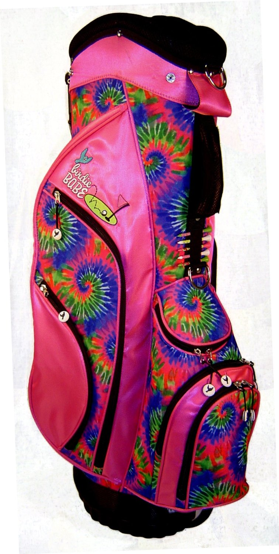 Womens Birdie Babe Hippie Hooker Pink Tie Dye Golf Hybrid Cart Bags
